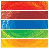 Abstract Artistic Colorful Collection Of Banner Templates- Vector Graphic.