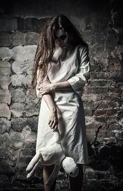 foto of rag-doll  - Horror style shot - JPG