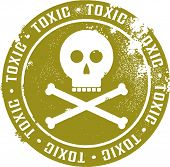 Toxic Skull and Crossbones Stamp