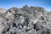 foto of obsidian  - A huge pile of obsidian and pumice - JPG