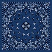 Blue Paisley Bandana