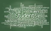 Student related tag cloud illustration