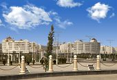 View Of  New Modern Apartments in Ashkhabad. Turkmenistan.