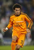 BARCELONA - JAN, 12: Pepe Lima of Real Madrid during the Spanish League match between Espanyol and R