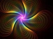 Rainbow Curl Fireworks - fractal design
