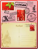 Christmas postage set
