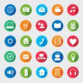 Modern media design elements. Flat icons.