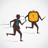 men compete to time vector