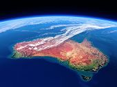 Australia seen from space - Earth daytime series (Elements of this 3d image furnished by NASA)