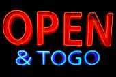 Open To Go Neon Sign