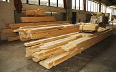 Wooden Prefabricated House Pieces In Factory