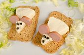 foto of field mouse  - Funny cheeses mice an attractive kid food starter