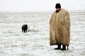 Traditional romanian shepherd outfit