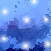 Abstract Blue Flower With Highlight