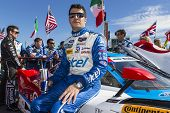 Daytona Beach, FL - Jan 25, 2014:  Memo Rojas waits for the start of the Rolex 24 at Daytona at Dayt