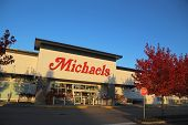 Coquitlam BC, CANADA - October 8: Michaels October 8, 2013, BC, Canada. Michaels currently operates