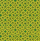 Celtic Seamless Pattern. Abstract Vintage Geometric Background.