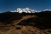 picture of sherpa  - Night view to Nupla and Tartikha from Everest View Japanise hotel - JPG