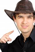Man In Stetson Hat