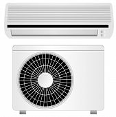 stock photo of air conditioner  - air conditioner vector illustration - JPG