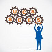 arrange gear and make success word vector
