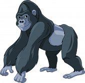Illustration of cute cartoon gorilla