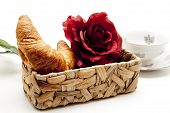 Croissants with rose