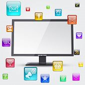 Monitor and application icons