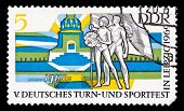 Gdr Stamp, Nations Battle Minument In Leipzig