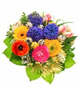 Beautiful Easter Bouquet Of Colorful Spring Flowers