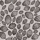Pattern With Fir Cone
