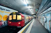 LONDON, UK - SEP 27: London Underground station interior on September 27, 2013 in London, UK. The sy
