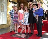 LOS ANGELES - JAN 29:  Cheryl Hines, Extended Family children at the Hollywood Walk of Fame Star Ceremony for Cheryl Hines at Hollywood Boulevard on January 29, 2014 in Los Angeles, CA