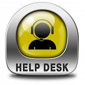 help desk or consult icon or button or online support call center customer service