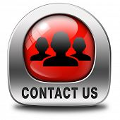 contact us here for feedback icon or sign. Coordinates and address for customer support and extra in