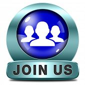 Join us now and register  for free today. Registration blue  icon member button or membership sign