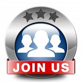 Join us now and register  for free today. Registration icon member button or membership sign