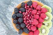 Healthy Breakfast Of Fresh Fruit