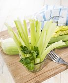 picture of crudites  - Celery Sticks in a glass  - JPG