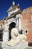 stock photo of arsenal  - Entrance to the Venetian Arsenal - JPG