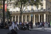 PARIS-AUGUST17th:Front of Comedie Francaise theater on august 17th in Paris,France
