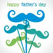 mustache background happy father s day vector
