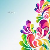 Abstract colorful arc-drop background. Vector.