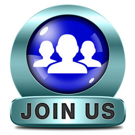 stock photo of joining  - Join us now and register  for free today - JPG