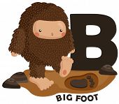 picture of big-foot  - the letter b for the word big foot - JPG
