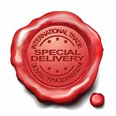 Special Delivery Red Wax Seal