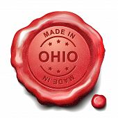 Made In Ohio Red Wax Seal