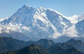 View Of Annapurna Himal From Jaljala Pass - Nepal - Asia
