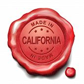 Made In California Red Wax Seal