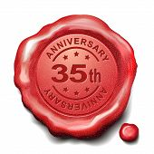 35Th Anniversary Red Wax Seal